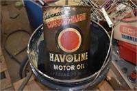 Havoline Motor Oil Metal Cans