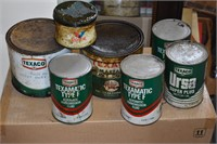 Boxe Texaco Metal Cans