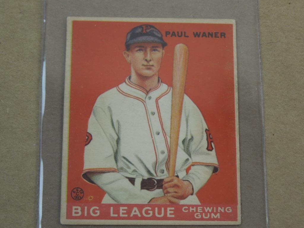 1933 Goudey Gum Baseball Card 25 Paul Warner Hibid Auctions