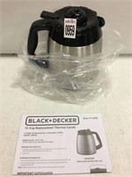 BLACK & DECKER STAINLESS THERMAL CARAFE