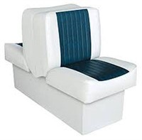 WISE DELUXE LOUNGE SEAT WHITE/NAVY BOAT SEATS