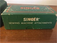 Singer button holder & sewing attachment