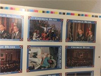 George Bush card sheet. 2'x3'
