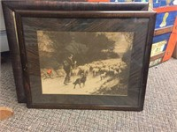 """2 framed decorator pictures. 22""""x18"""""""