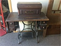 Home treadle sewing machine