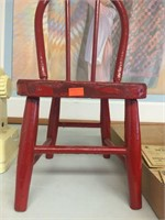 Red doll chair