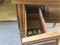 Belvedere sewing machine in cabinet
