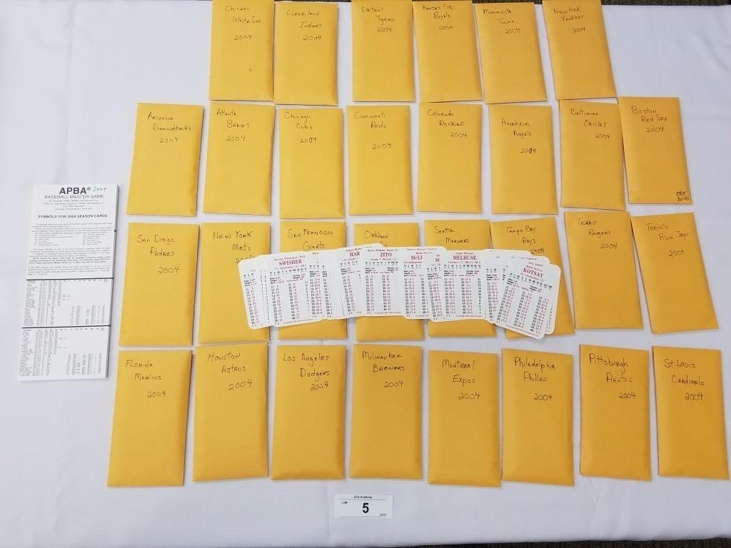 2004 Season Apba Baseball Card Set 30 Cards Per Te Jds Auctions