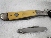 5 various pocket knives