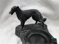 1Cast iron Dog ashtray