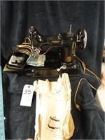 Singer Sewing machine Model 221 in case