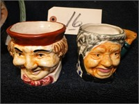 3 old Mugs (pirate and couple)