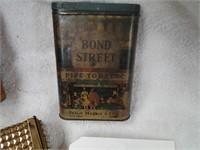 2 vintage ciarette cases/Bond Street Tobacco can