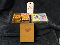 3 Sets of Vintage Playing Cards