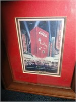 5 framed coke pictures