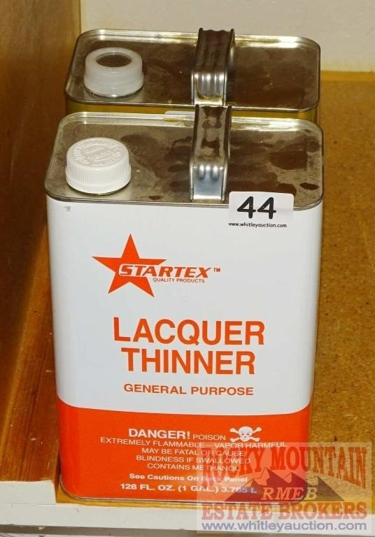 2 Gallons Startex & Other Lacquer Thinner    Auctioneers Who