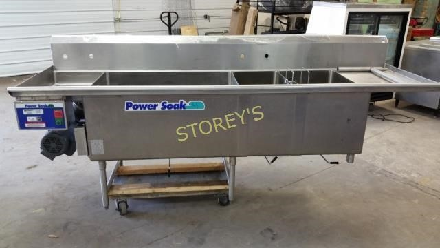 S S Triple Sink W Metcraft Power Soak Unit Storey S