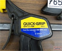 """2 Quick-Grip 12"""" Bar Clamps."""