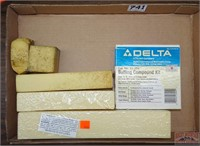 Assorted Buffing Compound & Sand Paper Cleaner