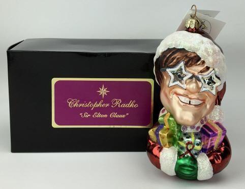 Elton John Christmas Ornament.Sir Elton John Claus Ornament Christopher Radko 345 Auction