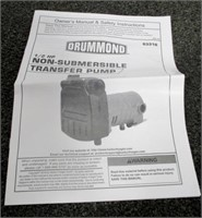 Drummond 1/2 HP Non-Submersible Transfer Pump | United