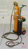 Oxy-Acetylene Set W/ Cart, Gauges & Smith Torch