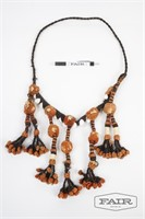 Ethnic Necklace Made from Natural Fibers