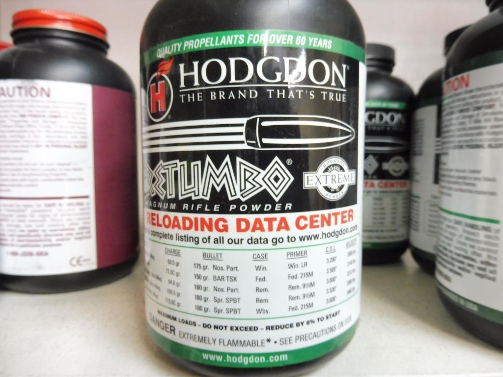 3) Bottles of Hodgdons Retumbo Magnum Rifle Powder | Prime