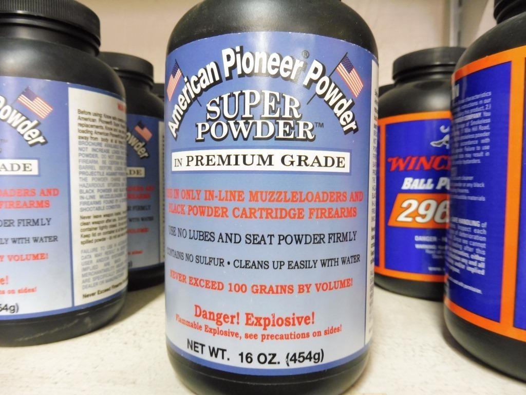 4) Bottles of American Pioneer Powder Muzzleloader | Prime