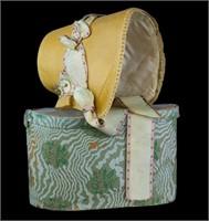 Straw Poke Bonnet ca. 1830 with original box