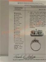 14k Yellow Gold & Diamonds Engagement Ring