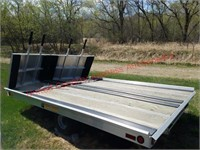 Bear Track 10ftV Aluminum 2Place Snowmobile Trailw