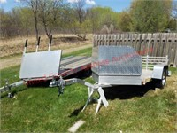 Bear Track 9ftV Aluminum 1Place Snowmobile Traile
