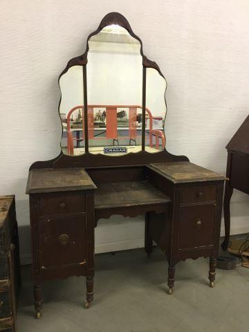 Small Antique Vanity 42 W X 18 D