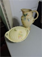 Antique Covered Dish & Pitcher