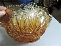 "Carnival Glass 9"" Bowl"