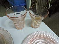 Depression Glass, Cake Plate, Butter Dish, etc.
