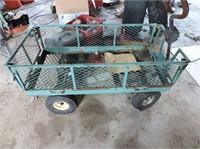 "Garden Wagon, needs new tires, 20"" x 41"""