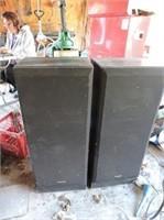 "Pair of Technics Speakers, 14"" x 36"" x 10"""