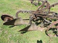 Antique Plow with Steel Wheels