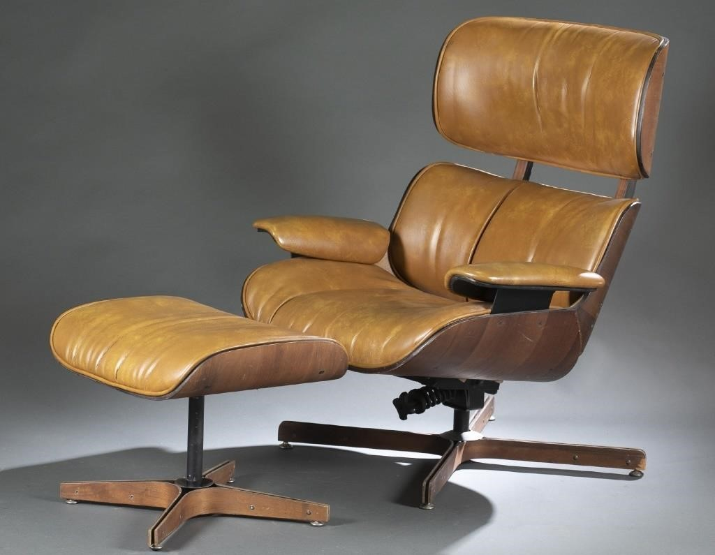 Magnificent Plycraft Lounge Chair And Ottoman Quinns Auction Galleries Ibusinesslaw Wood Chair Design Ideas Ibusinesslaworg
