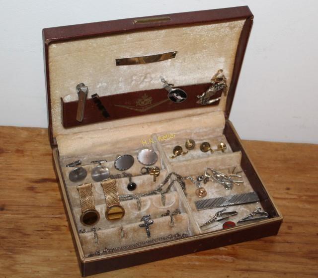 1d791763e218 Tie Bars, Cufflinks, Lapel Pins, Some Sterling | H. K. Keller