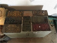 Assorted Old Indiana License Plates