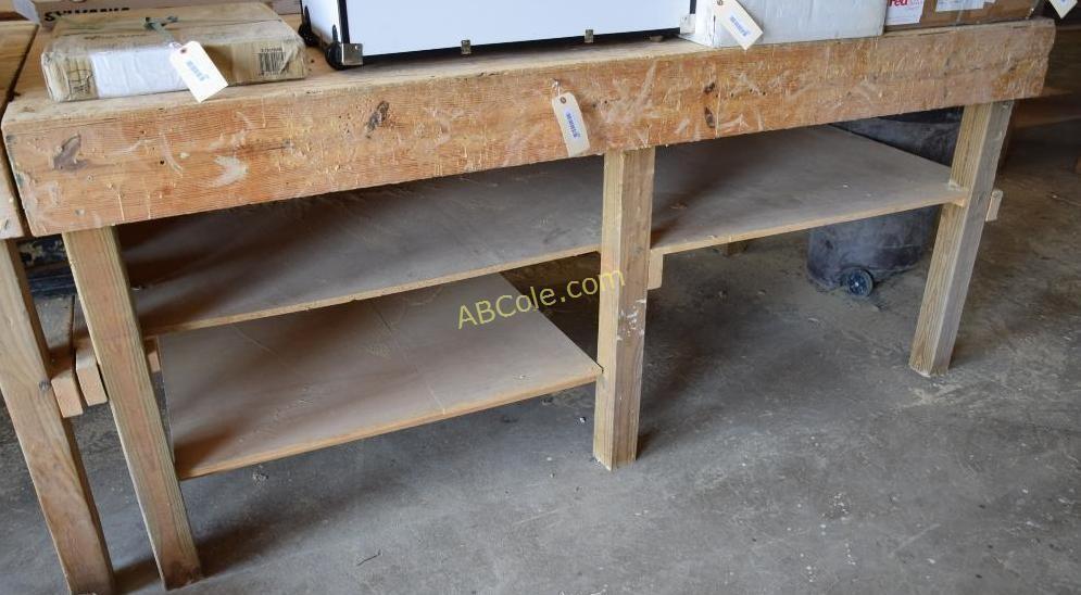 Outstanding Custom Work Bench 8 Ft X 4 Ft X 44 In United Country Short Links Chair Design For Home Short Linksinfo