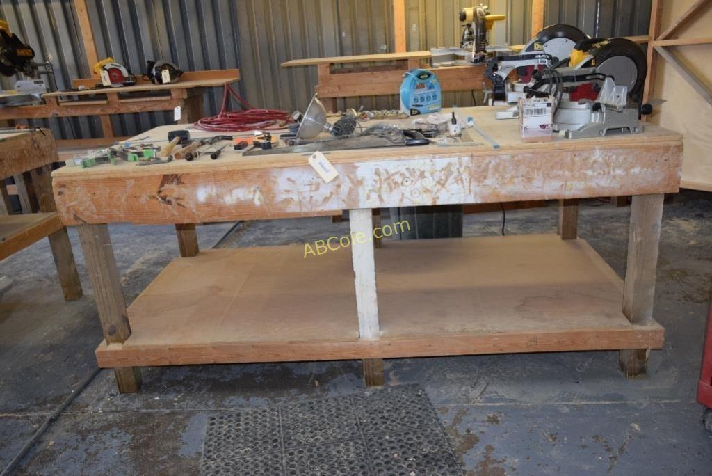 Awe Inspiring Custom Work Bench 8 Ft X 41 5 In X 4 Ft United Country Short Links Chair Design For Home Short Linksinfo