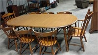Tell City Maple table w/8 chairs