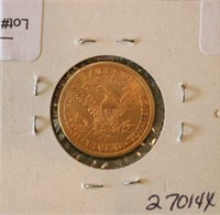 1898-S $5 U.S. Gold Coin