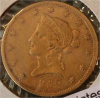 1852 $10 U.S. Gold Coin