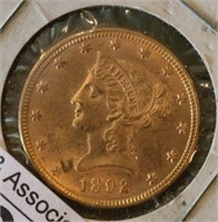 1892 $10 U.S. Gold Coin