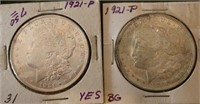Four Silver Dollars